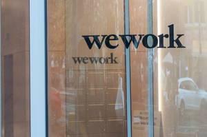 WeWork Büro Außenansicht Glaseingang