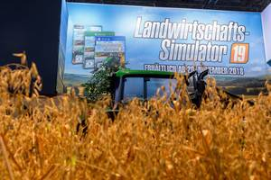Wheat at Farming Simulator 19 booth