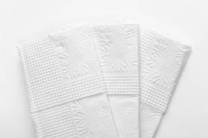 White paper napkins closeup (Flip 2019)