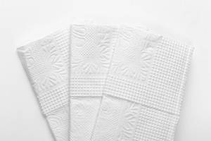 White paper napkins closeup