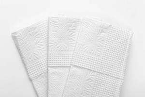 White paper napkins closeup