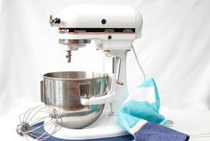 white Professional Stand Mixer