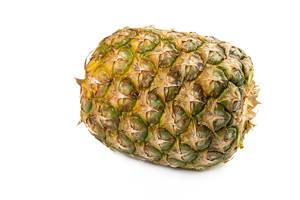 Whole Pineapple isolated on the white background