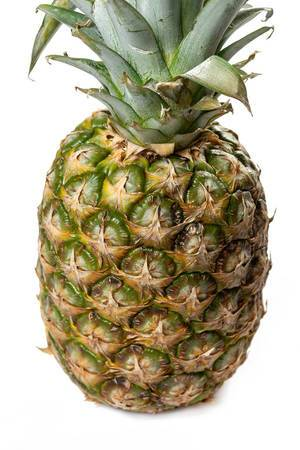 Whole Pineapple on the white background