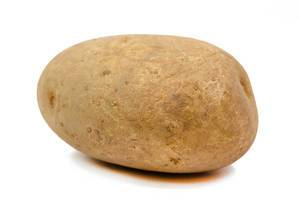 Whole Potatoe isolated above white background