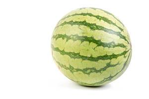 Whole Watermelon isolated above white background