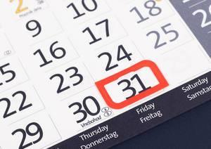 Wichtiger Tag rot markiert auf Kalender