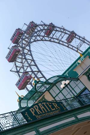 Wiener Riesenrad Ferris wheel at Prater amusement park