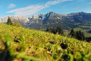 Wilder Kaiser in Austrian ski resort landscape (Flip 2019)