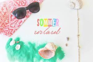 Wir machen Sommerurlaub am Strand