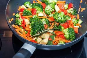 Wok mit Gemüse