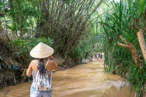 Woman walking along the Fairy Stream in Mui Ne, Vietnam  Flip 2019