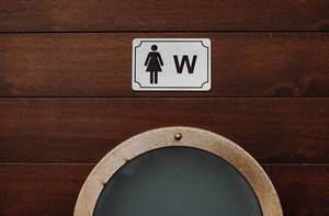 Women Bathroom sign