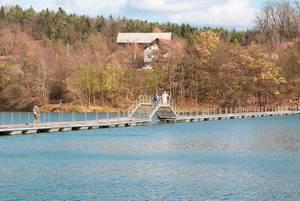 Wood path over a lake