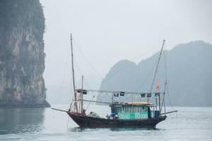 wooden Fish Boat at Sea Close up  (Flip 2019)