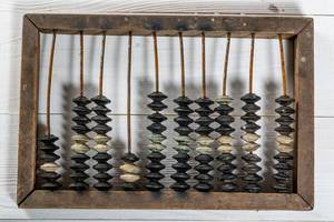 Wooden old abacus