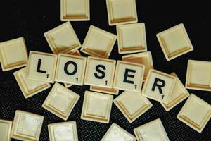 Word loser formed from scrabble