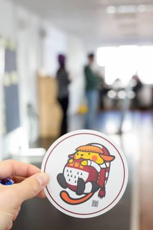 WordCamp 2017 Katzen-Sticker