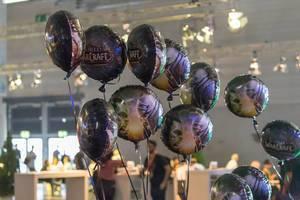 World of WarCraft Helium-Ballons am Messestand von Blizzard