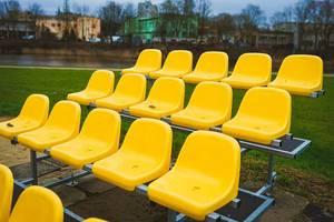 Yellow Stadium Chair,Pattern With Chairs (Flip 2020)