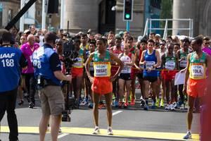 Yemane Tsegay und Tamirat Tola (Marathon Finale) bei den  IAAF Leichtathletik-Weltmeisterschaften 2017 in London