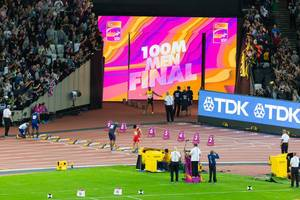 Yohan Blake und weitere 100-Meter-Läufer IAAF Leichtathletik-Weltmeisterschaften 2017 in London