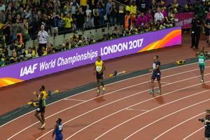 Yohan Blake, Usain Bolt und weitere 100-Meter-Läufer IAAF Leichtathletik-Weltmeisterschaften 2017 in London
