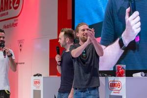 Youtube celebrity Sarazar at Gamescom 2018