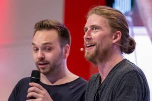 Youtube celebrity Sarazar at Gamez stage at Gamescom 2018