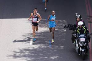 Yuki Kawauchi und weitere Läufer (Marathon Finale) bei den IAAF Leichtathletik-Weltmeisterschaften 2017 in London