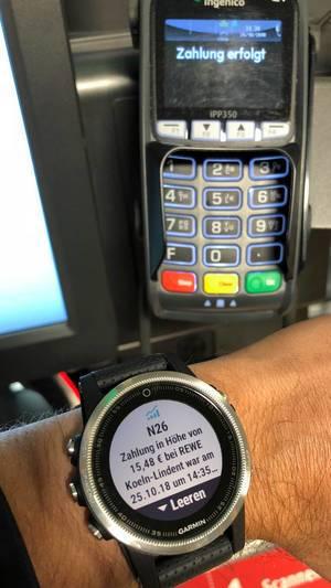 Zahlung mit der Smartwatch - Garmin Pay N26 NFC Contactless Payment