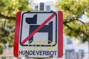 Zeichen für Hundeverbot