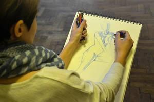 Zeichnen auf Papier
