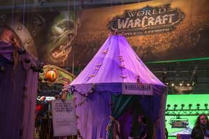 Zelt eines Wahrsagers aus World of WarCraft am Blizzard Messestand