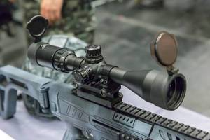 Zielfernrohr auf einem LARP Gewehr