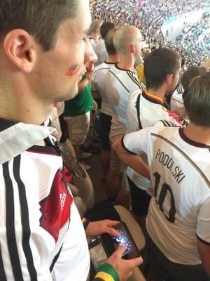 Zuschauer beim Finale Deutschland gegen Argentinien - Fußball-WM 2014, Brasilien