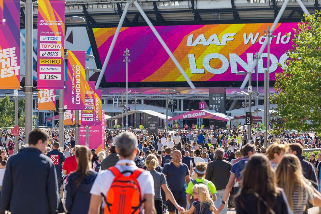 Zuschauer Leichtathletik-WM 2017 in London