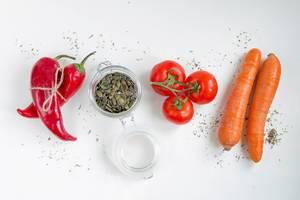 Zutaten: Gemüse und Gewürze